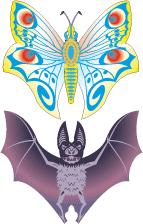 bat butterfly tilings