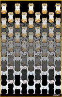 cat and dog tessellation