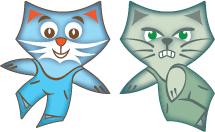 joyful cats & cranky cats tilings