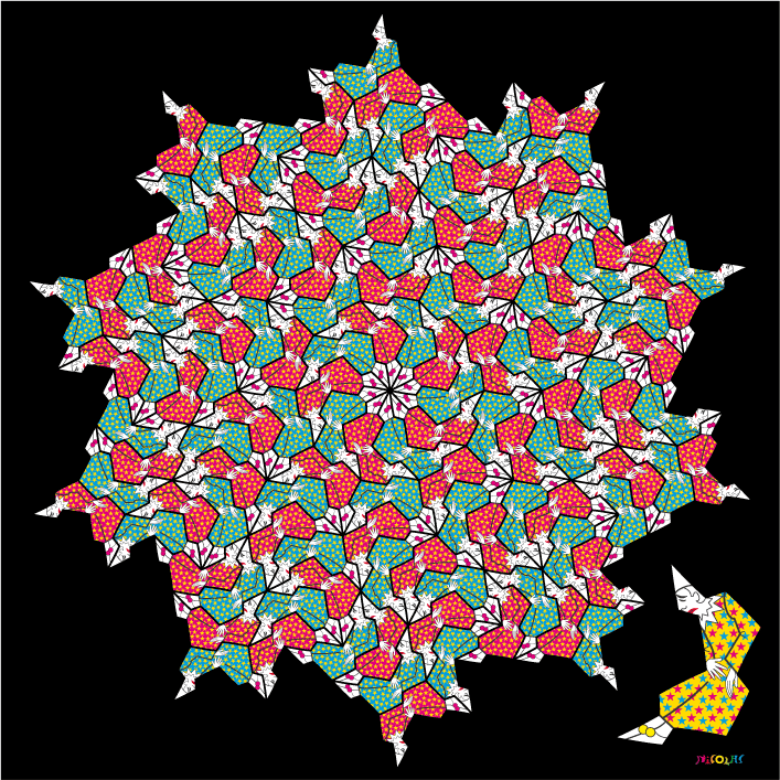 non-periodic clown tessellation