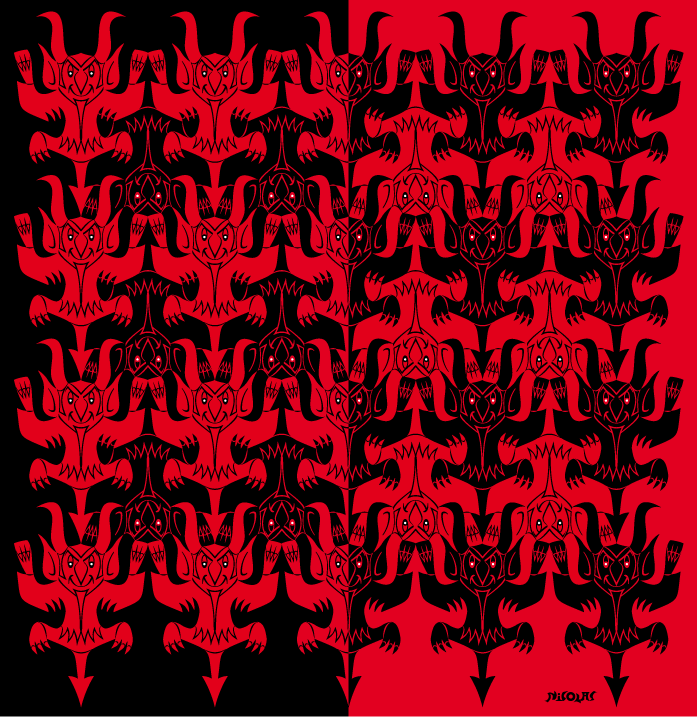 red & black devils tessellation