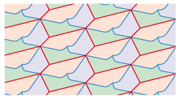 divided hexagons 3 tessellation