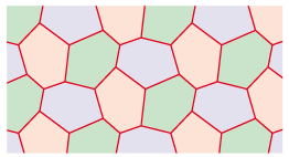 divided hexagons 5 tessellation