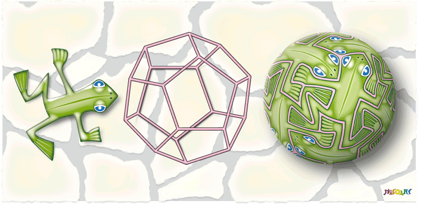 frog & dodecahedron tessellation