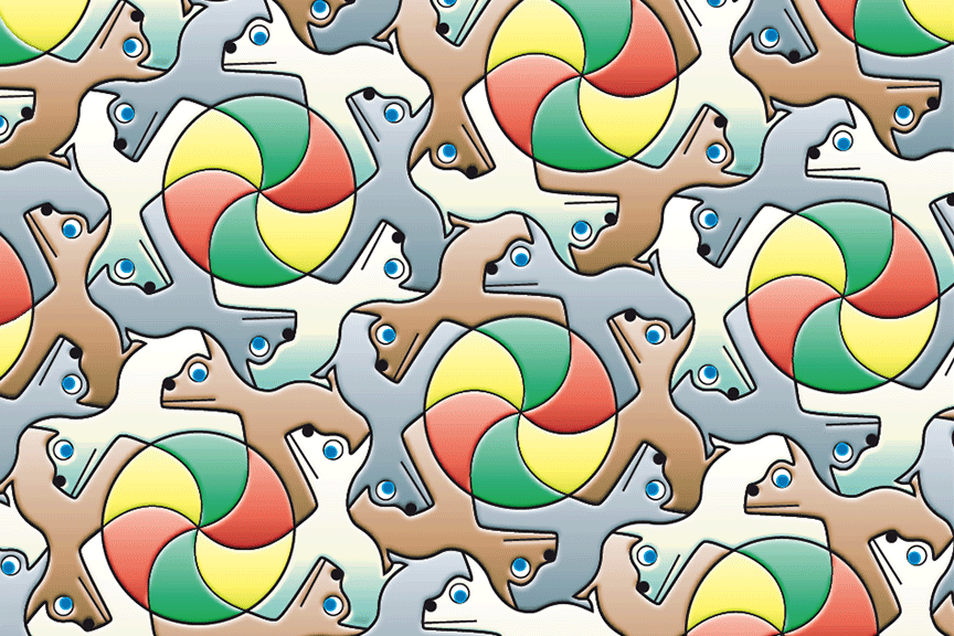 ball & dog tessellation