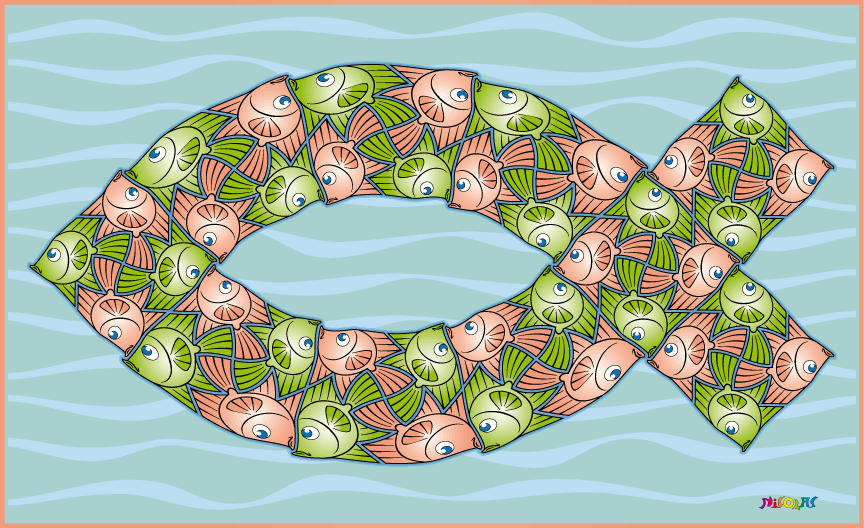 fish symbol tessellation