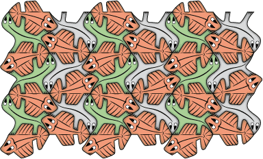fishes and lizards tessellation