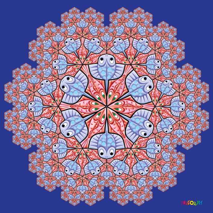 fractal fishes tilings