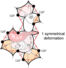non-periodic tilie goose tessellation