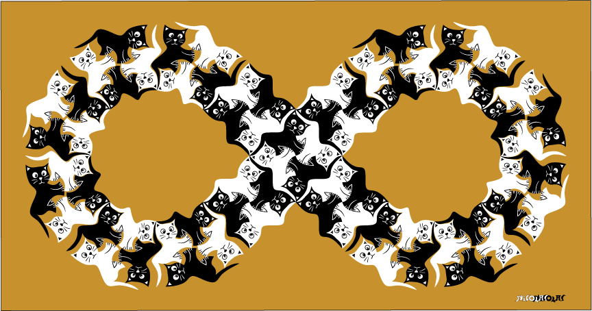 animal kitten tessellation
