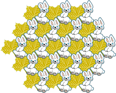 rabbits and leaves tessellation