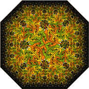 octogonal limit with lizards tessellation