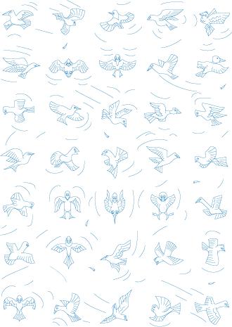 35 pavés oiseaux