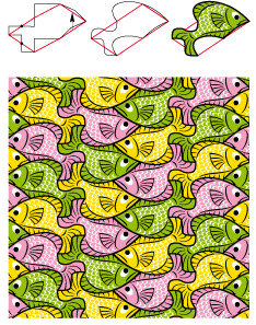 fishes upside down right way up tessellation