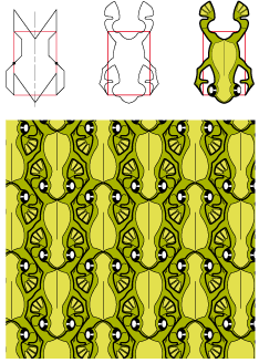 green tree frogs tessellation