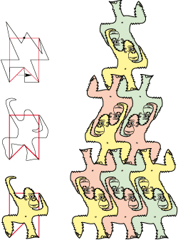 acrobat monkeys tessellation