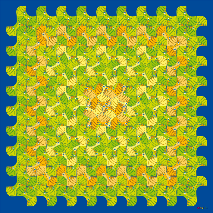 non-periodic twin ducks tilings
