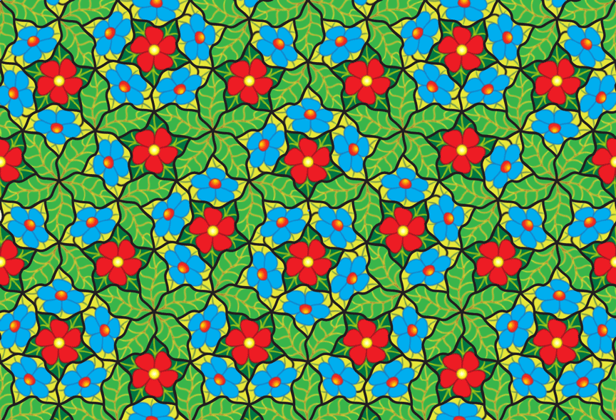 pavés fleurs non-periodiques